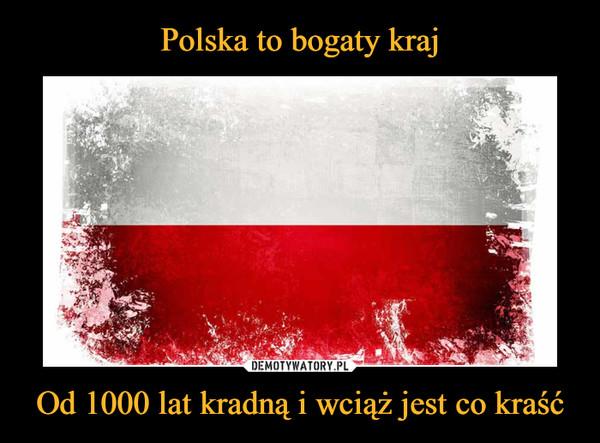 Polska to bogaty kraj Od 1000 lat kradną i wciąż jest co kraść