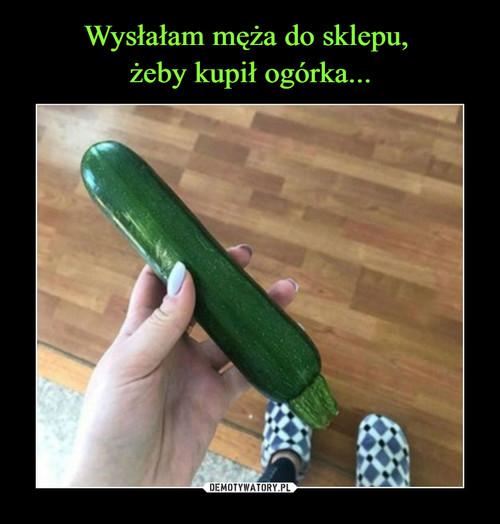 Wysłałam męża do sklepu,  żeby kupił ogórka...