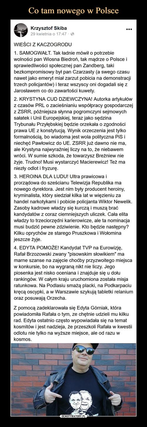 Co tam nowego w Polsce