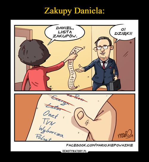 Zakupy Daniela: