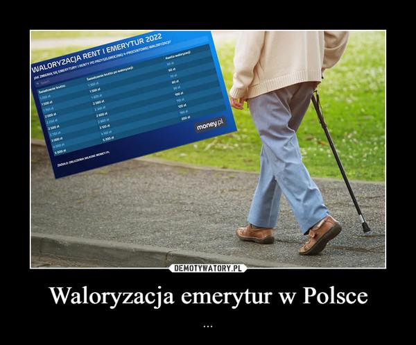 Waloryzacja emerytur w Polsce – ...