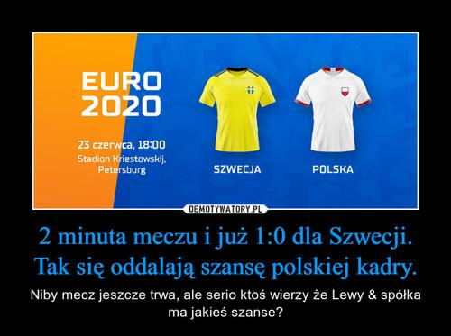 2 minuta meczu i już 1:0 dla Szwecji. Tak się oddalają szansę polskiej kadry.