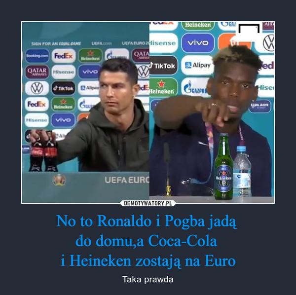 No to Ronaldo i Pogba jadą do domu,a Coca-Cola i Heineken zostają na Euro – Taka prawda