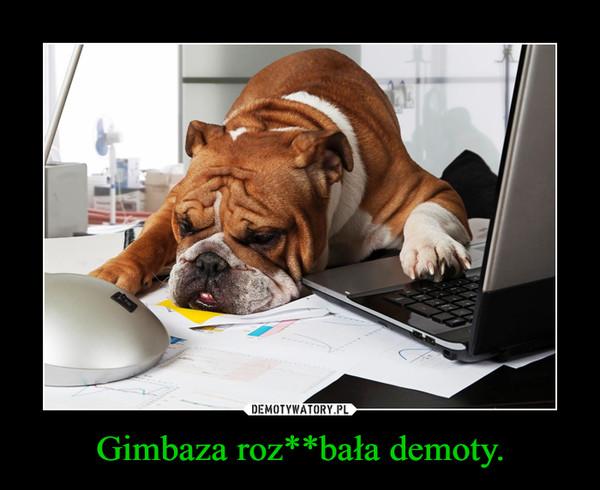 Gimbaza roz**bała demoty. –