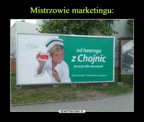 Mistrzowie marketingu:
