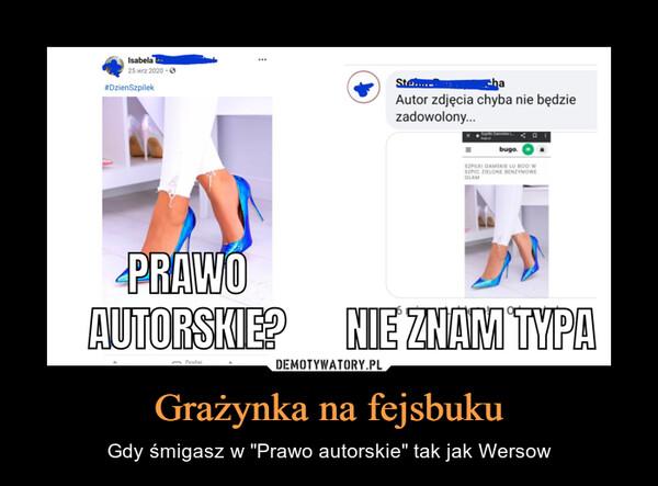 """Grażynka na fejsbuku – Gdy śmigasz w """"Prawo autorskie"""" tak jak Wersow"""