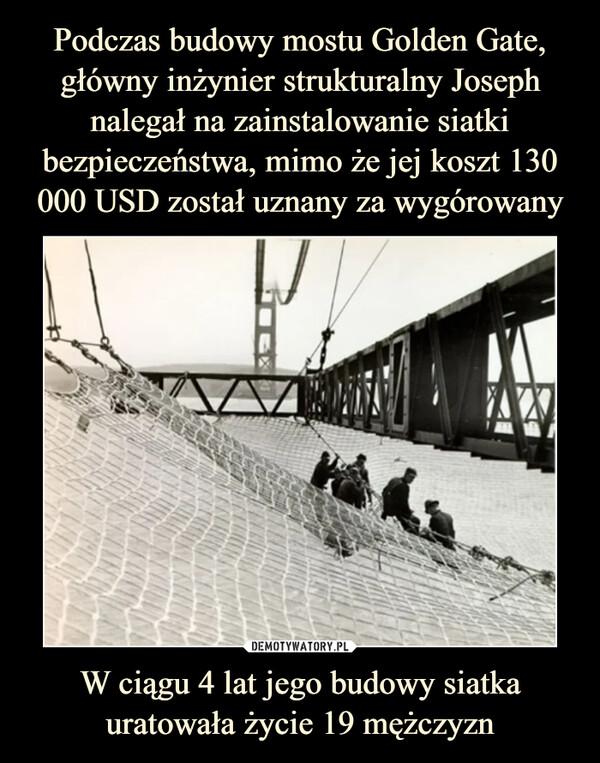 W ciągu 4 lat jego budowy siatka uratowała życie 19 mężczyzn –