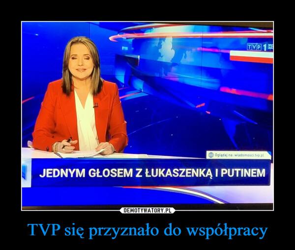 TVP się przyznało do współpracy –
