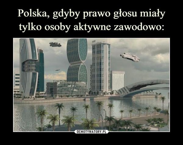 Polska, gdyby prawo głosu miały tylko osoby aktywne zawodowo: