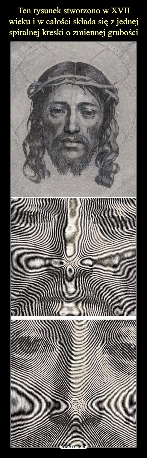 Ten rysunek stworzono w XVII wieku i w całości składa się z jednej spiralnej kreski o zmiennej grubości